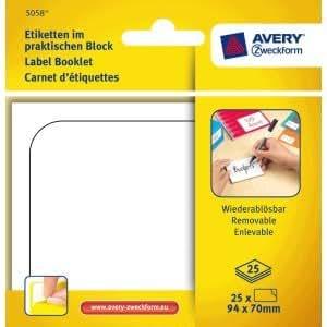Avery Zweckform universal-etiquetas de 94 x 70 mm 25 hojas/25 etiquetas