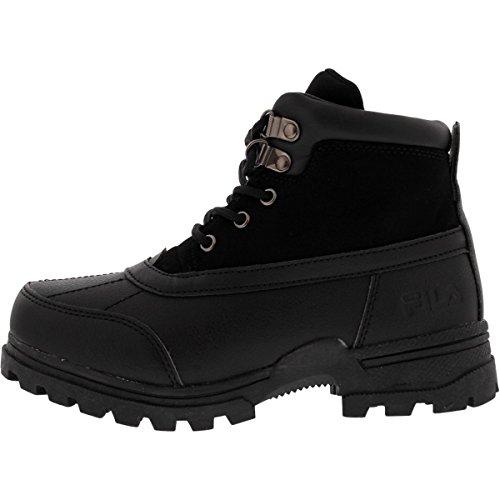 Price comparison product image Fila Kid's Ridgewood Boots Hiking Boots, Black Man Made, 2 Little Kid M