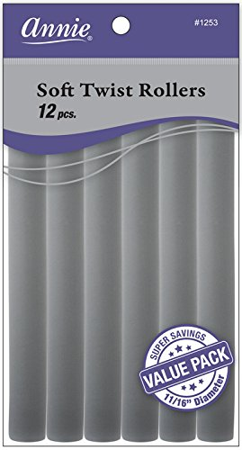 (Annie Soft Twist Rollers, Gray, 7 Inch, 12 Count)
