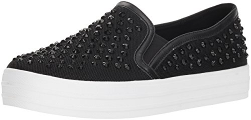 Skecher Street Women's Double up-Rhine-Steps Sneaker,black,10 M US ()