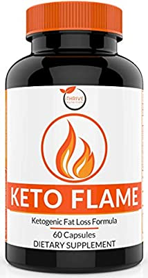 Keto Flame Ketogenic Fat Burner - Burn More Fat for More Fuel - Thermogenic and Nootropic Supplement - Keto Diet Pills for Healthy Weight Loss, Mental Focus & Clarity - Caspimax®, Fucoxanthin & More