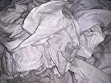 Lint Free White Knit Cotton Rags-Painter-Stainer-Oil-Dirt-All-Purpose Rags- Reclaimed T-Shirt Material 133 Pounds Bale