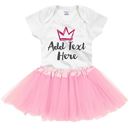 Cute Custom Tutu Onesie: Infant Gerber Onesie with Tutu White/Pink]()