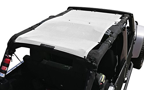 ALIEN SUNSHADE Jeep Wrangler Mesh Shade Top Cover with 10 Year Warranty Provides UV Protection for Your 4-Door JKU (2007-2017) -