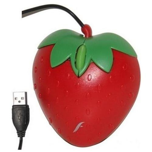 Frisby Computer PC Desktop Notebook Strawberry Fruit Gift USB Optical Mouse Mice - FM-1305