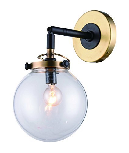 (Elegant Lighting 1507W6BB Leda Collection Wall Sconce W6
