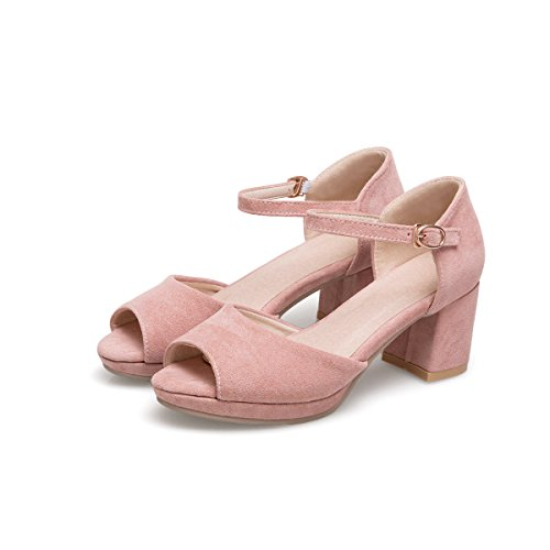 nbsp;Le Donne del Sandali Alti amp;S Peep Blocco Tacchi Pink Toe MEI E5qA7xW