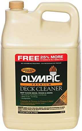 Best high-strength Deck cleaner: Olympic Oly Deck Cleaner
