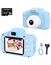 hyleton Digital Camera for Kids, 1080P FHD Kids Digital Video Camera with 2 Inch IPS Screen and 16GB SD Card for 3-10 Years Boys Girls Gift photo