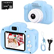 Digital Camera for Kids,hyleton 1080P FHD Kids Digital Video Camera with 2 Inch IPS Screen and 32GB SD Card fo