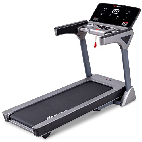 "Apontus 7"" LED Display Electric Motorized Folding Running Treadmill Black"