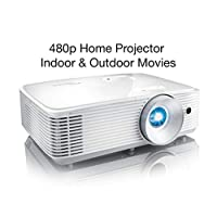 Optoma SH360 Affordable Home Projector   Indoor or Outdoor Movies, Up to 300″   480p Ready   Bright 3600 Lumens   Compatible with Fire Stick, Roku & More   Integrated Speaker   Up to 15,000hr Lamp