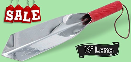 Garden Trowel Multipurpose Tool 14'' Long Premium Super Strong Stainless Steel Metal Gardening Tool & Free Ebook by Stock4All by Unknown