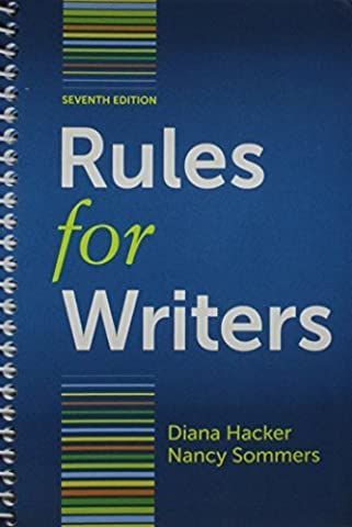 Rules for Writers with Writing about Literature 7e (Tabbed Version) & Arlington Reader 3e 7th edition by Hacker, Diana, Sommers, Nancy, Bloom, Lynn Z., Smith, Louise (2012) (Rules For Writers 7th)