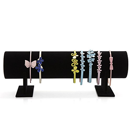 Funi Velvet Hairband Headband Holder Retail Shop Display Stand Rack Holder (19.5'', - Shop Headbands