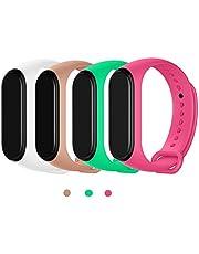 MAKACTUA Bransoletka kompatybilna z Xiaomi Mi Band 4 dla kobiet i mężczyzn, silikonowa bransoletka do fitnessu i zegarka, sportowa bransoletka i pasek na nadgarstek do Xiaomi Mi Band 4/3