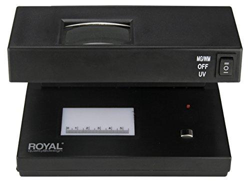 Royal UV1 Detector de billetes falsos, deteccion UV, fluoresente y magnetismo, alerta sonora