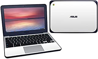 product image for Solid State White Protector Skin Sticker Compatible with Asus Chromebook C202S - Ultra Thin Protective Vinyl Decal Wrap Cover