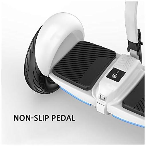 QINGMM Hoverboard, Allterrain Deux Roues Électriques Intelligents Auto Équilibrage Scooter, avec Bluetooth Haut-Parleur Et Lumières LED, pour Adultes Et Enfants