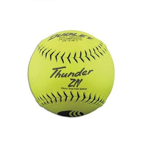 Dudley 12'' USSSA Thunder ZN Composite Slowpitch Softball - pack of 12 by Spalding