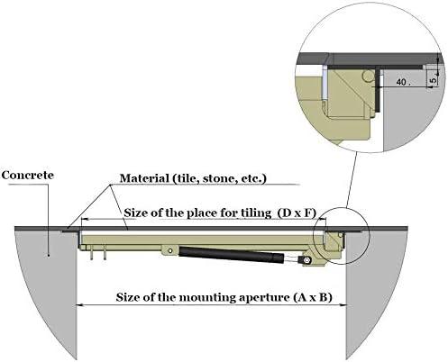 Coperchio Botola 700 mm x 1000 mm P Porta Pavimento Chiusino Sigillo Portello ispezione Botola ispezione