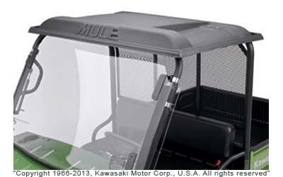 1990-2020 KAWASAKI MULE 2010 3000 3010 (DOES NOT FIT TRANS MODELS) BLACK PLASTIC ROOF KAF30-030A