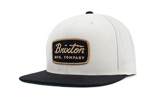 Brixton Men's Jolt Medium Profile Adjustable Snapback Hat, off white/black, One Size