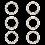 SODIAL(R) 6pcs Round anneau en plastique de forme pour illet de rideau Beige / Pattern persillage