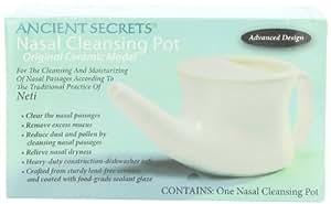 Ancient Secrets Ceramic Nasal Cleansing Pot, 1 Neti Pot