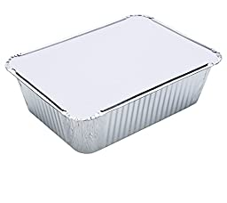 DOBI Takeout Pans - Disposable Aluminum Foil Take-out Containers with Lids, Casserole Size - (Pack of 30)