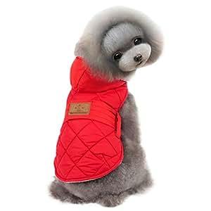 Amazon.com : Kuoser Cute Fleece Lining Hoodie Dog Vest