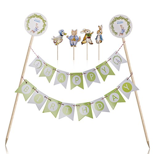 Skylove Cake Toppers Flags Banner Birthday Cake Flags ...