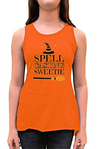 HAASE UNLIMITED Spell Casting Sweetie - Witch Witchcraft Toddler/Youth Sleeveless Backswing (Orange, X-Large (Youth))