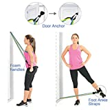 YiYLunneo 11PC Premium Resistance Bands Set,Workout Bands,Natural Rubber Latex Fitness Resistance Band Exercise Training