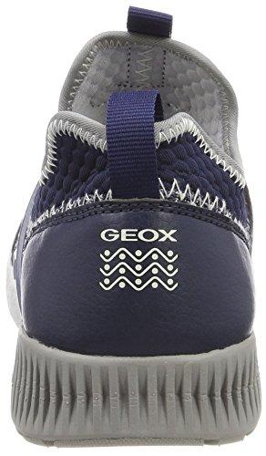 Geox Sveth a, Zapatillas Para Niños Azul (Navy/grey)