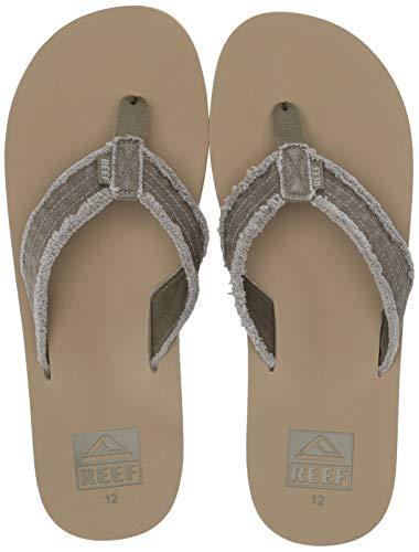 Fray Skate Shoe - Reef Men's TWINPIN FRAY Sandal, Olive/tan, 070 M US