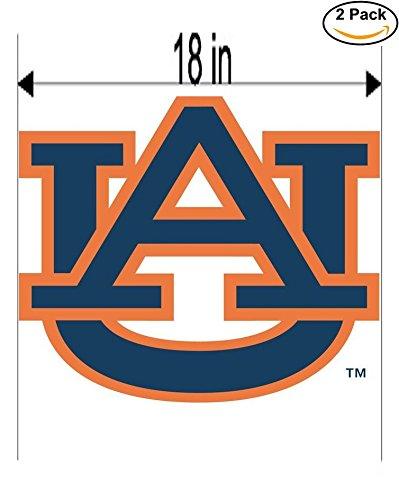 Auburn Tigers 2 University Vinyl Sticker Decal Logo NCAA 2 Window Stickers 18 Inches - University Window