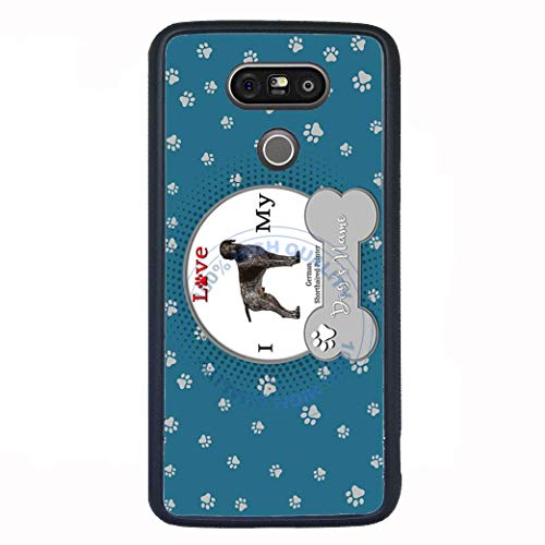(BRGiftShop Personalize Your Own I Love My Dog German Shorthaired Pointer Rubber Phone Case For LG V30)