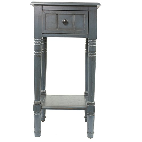 Décor Therapy FR1548 Simplify One Drawer Square Accent Table, Antique Navy by Décor Therapy (Image #2)