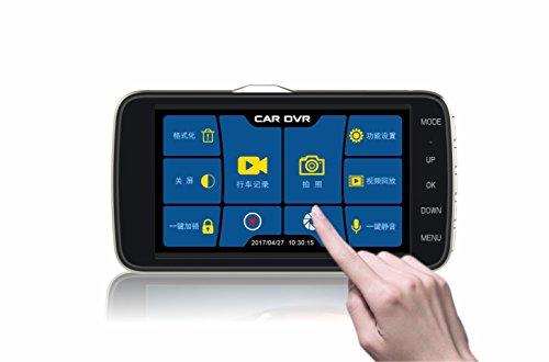 CT-CARID Dash Camera 1080P Car DVR Dual Lens 4 Inch IPS Touc