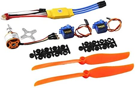 Hellery 30A Brushless Control ESC Brushless Motor For RC Airplane Plane Parts Toys