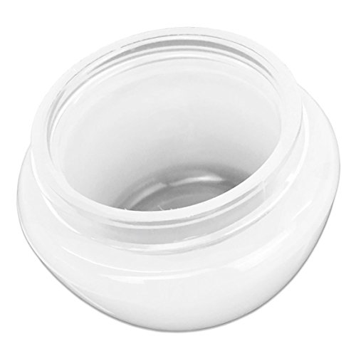 La Tartelette 10 Pieces 20 Gram Round Cosmetic Containers Empty Clear Travel Jar Pot with Inner Liner for Pills…