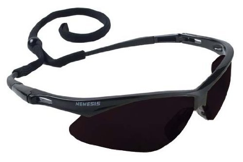 - Jackson Nemesis Safety Glasses Black Frame - Smoke Lens Anti Fog