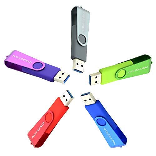 - Thumb Drive 3.0, 5 Bulk 32GB USB Flash Drive Pen Drive Memory Stick (5 Pack)