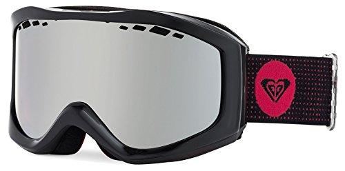 Roxy Sunset Women's Snow Racing Snowmobile Goggles Eyewear - Anthracite/Amber Rose Silver Mirror / One - Rose Amber Eyewear