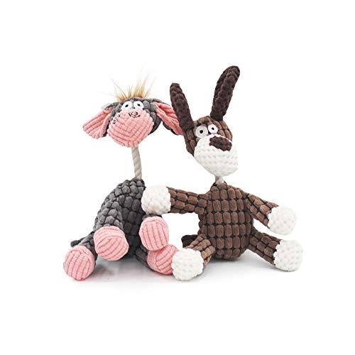 SONGWAY Esel Hundespielzeug für Kleinen Hund – Plüsch Hund Quietschende, Kauen Spielzeug im Form des Esels…