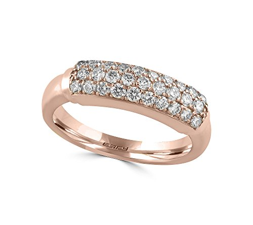 Effy Pave Rose Collection 0.57 Ct Tw Diamond Ring 14k Rose Gold