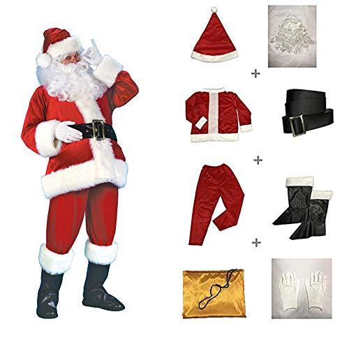 Faneirys Men's Deluxe Santa Suit Christmas Adult Santa Claus Santa Claus Cosplay Costumes (M/L) ()