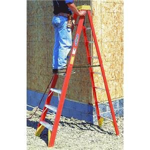 Werner 6208 300-Pound Duty Rating Type IA Fiberglass Stepladder, 8-Foot from Werner