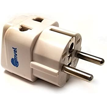 Amazon Com Vct Vp 109 Universal Travel Grounded Plug Adapter For Germany France Spain